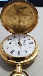 Antique 18k Gold Systeme Brevete No. 5356 Swiss Made Pocket Watch Not Working