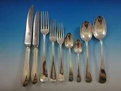 Old English By Various English Makers Sterling Silver Flatware Service 58 Pcs