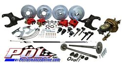 Pol 65-66 Chevy C10 5-lug Front And Rear Power Disc Brake Conversion W/ Rear Axles