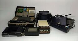 Lot of Three Vintage Polaroid Land Cameras with Cases
