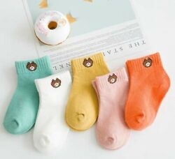 BRAND NEW!! Sets of 5 Pairs Kid Toddler Cute 100% Cotton Color Boy Girl 3T to 5T $12.95