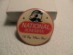 National Bohemian Oh Boy What A Beer Brewery Ale Red Flashing Led Magnetic Pin