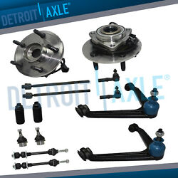 14pc 4wd Front Wheel Bearings Upper Control Arms Tie Rods For 2002-2005 Ram 1500