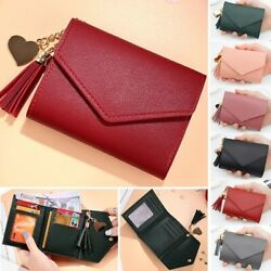 Women Casual Small Clutch Leather Mini Wallet Photo Credit ID Card Holder Purse $7.99