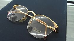 ORIGINAL Persol ARCOR by Ratti Eyeglasses Italy 49mm  VERY RARE Gold color Metal