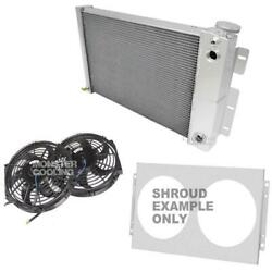 Omega Dual-pass Radiator, Shroud, 2-10 Fans And Relay, Champion 3 Row, Ls Engine