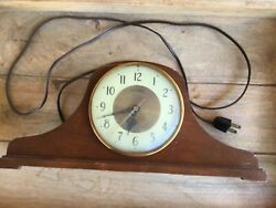 Antique Herschede Model H-850 Electric Mantle Westminster Chime Clock As Is