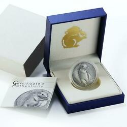 Palau 5 Dollar The Barbary Ground Squirrel Silver Coin 2013