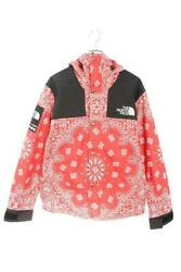 Supreme North Face 14Aw Paisley Bandana Pattern Mountain Hoodie Jacket M Red