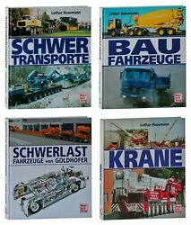 Lot 4 Books About Construction Heavy Equipment And Transport Hc German Text Only