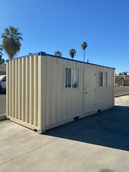 20' Climate-Controlled Cargo Container Mobile Office 'Job Box' (Upgraded)
