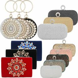 Evening Clutch Bags Purse Handbag for Women Wedding Prom Party Envelope Handbags $23.24