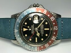 1960 Rolex 1675 Chapter Ring Gilt GMT with Turquoise MFF Insert - NYC