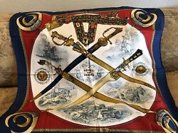 Hermes Vintage Rare Silk Scarf Made In France For Air France Exclusive Signed