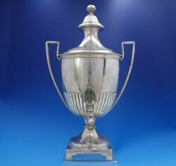 English Georgian Sterling Silver Samovar With Coat Of Arms Dogs Flowers 4051