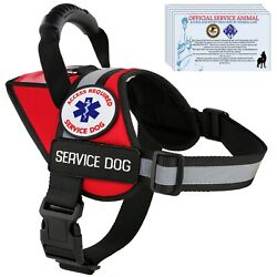 Service Dog Harness Vest Reflective - Waterproof - K9 Patches All Access Canine™