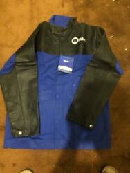 Miller 231080 Combo Leather And Indura Welding Jacket Size M