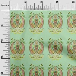 oneOone Leaves amp; Floral Artistic Fabric Prints By Meter AR 1003A 1
