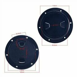 2 Pack 4 Inch Marine Boat Inspection Hatch Round Deck Plate Access Cover- Black