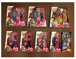Mattel Disney Pixar Toy Story 3+toy Story 2 Tour Guide Barbie Lot Of 8 Doll