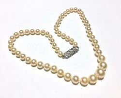 Rare Golden Pearls 18k 18ct Antique/vintage Pearl And Diamond Necklace