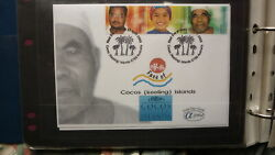 2000 Australian Alpha Stamp Issue Fdc, Face Of Cocos Island 1
