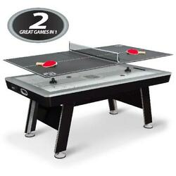 Air Powered Hockey W/ Table Tennis Top 80 Nhl Included Pucks Paddles Pushers Us