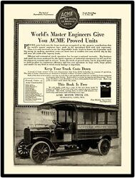 1917 Acme Trucks New Metal Sign Us Mail Postal Truck Featured On Sign Uspo