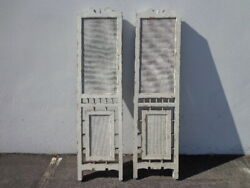 2 Antique Cane Privacy Screens Panels Headboard Bed Country French Rustic