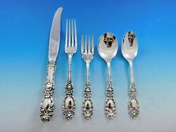 Lucerne By Wallace Sterling Silver Flatware Set For 8 Service 40 Pieces