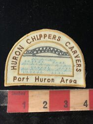 Port Huron Area Huron Chippers Carvers Wood Carving Patch Woodcarver 99j8