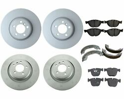 Genuine Front And Rear Brake Kit Disc Rotors Pads And Shoes For Bmw E65 Alpina B7