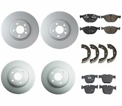 Genuine Front And Rear Brake Kit Disc Rotors Pads And Shoes For Bmw E70 E71 X5 X6