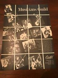 1982 Vintage 8x11 Print Ad For Musicians Guild Guitars Buddy Guy Neal Schon ++