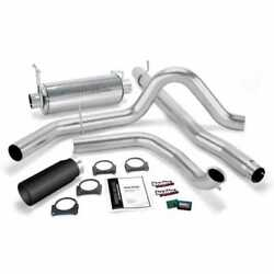Banks Power Git-kit - Ss Exhaust W/ Black Tip For 00-03 Ford 7.3l / Excursion