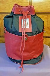 Ultra Rare Coach Leather And Canvas Olympic Bucket Back Packatlanta 1996m5m-692