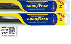 Goodyear Assurance Weatherready Wiper Blades 2 Front Blades Fits 97-99 Acura Cl