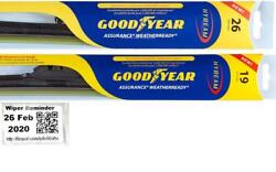 Goodyear Assurance Weatherready Wiper Blades 2 Front Blades Fits 04-14 Acura Tl