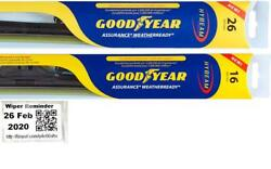 Goodyear Assurance Weatherready Wiper Blades 2 Front Blades Fits 05-08 Acura Tsx