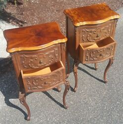 FRENCH rococo side table vtg hollywood regency antique lamp statue clock stand