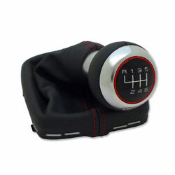 Audi S3 8p A3 Rs3 Leather Shift Knob 6-speed Red Stitching Genuine New
