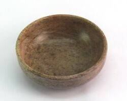 Stone Made Bowl Kitchen Decorative Antique Rare Indian Collective Bowl G38-51 Us