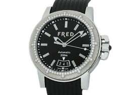 Free Shipping Pre-owned Fred Gladiator Collector Diamond Bezel Fd064511