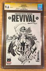 Revival 1, Sketch Cover, Cgc 9.6 2x Ss, Signed By Seeley And Norton, Nm+