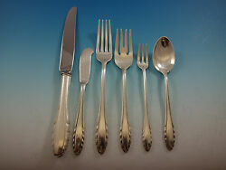 Lyric By Gorham Sterling Silver Flatware Set For 8 Service 54 Pieces