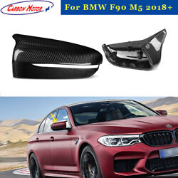 Carbon Fiber Mirror Cover Casing For 18+ Bmw F90 M5 F91 F92 M8 Replace Shell Cap