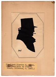 Last Official Silhouette Of Ulysses S. Grant In Person Just Before His Death