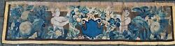 Rare Find! Antique Tapestry Frag. Depicts Two Figures 17th Century France