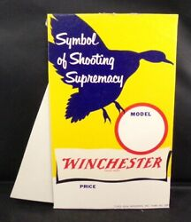 Winchester 1952 Store Display Sign Firearms Mint Vintage 2091