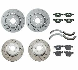 Genuine Front And Rear Brake Kit Disc Rotors Pads And Shoes For Bmw E90 E92 E93 M3